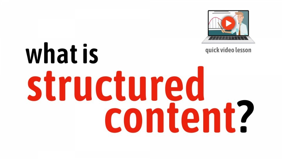 Video lesson - What is Structured Content?